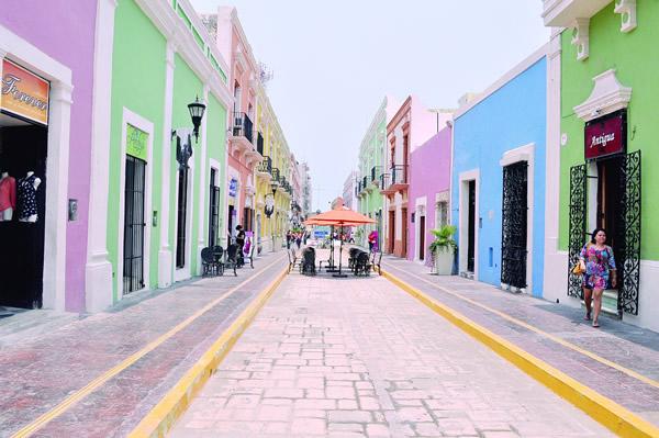 Calle 59, uno de los destinos de Campeche