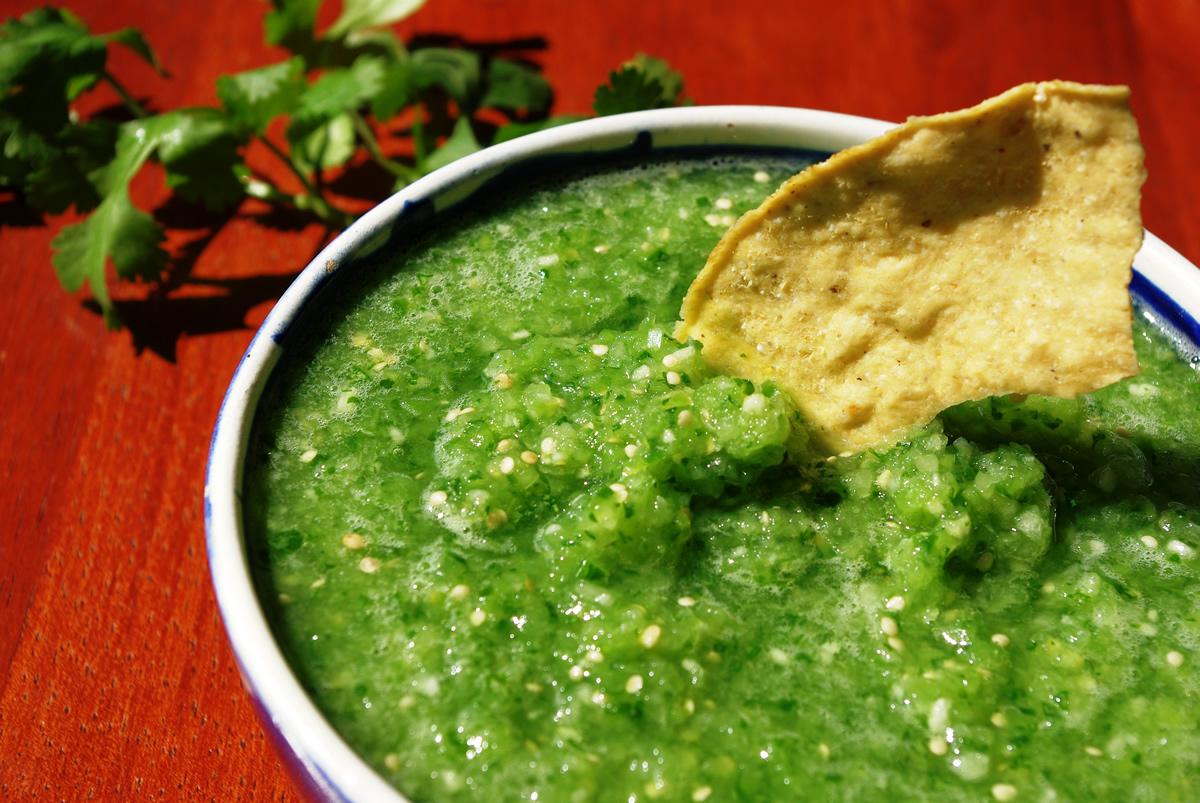 receta salsa verde cruda