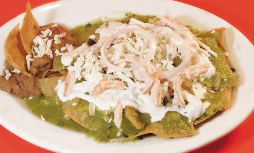 Receta Chilaquiles Verdes con Pollo