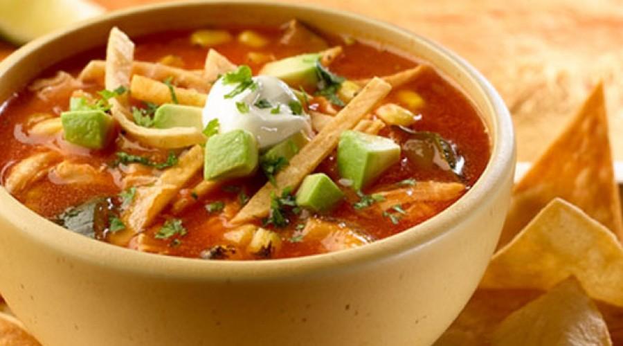 Receta Sopa Azteca