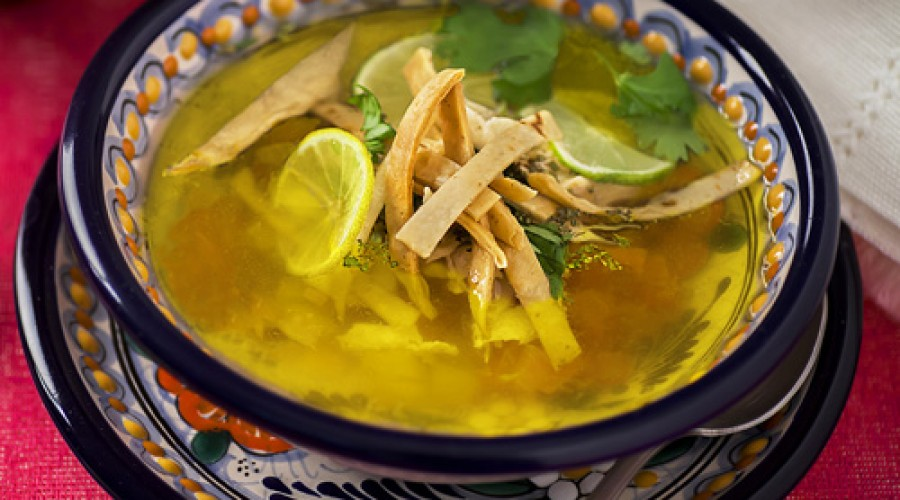 receta sopa de lima