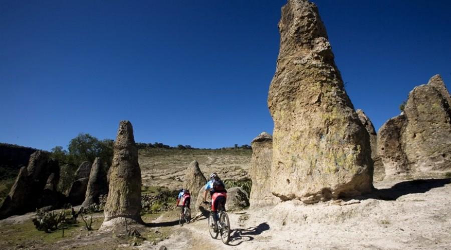 Practicando Bicicleta de Montaña en Hidalgo