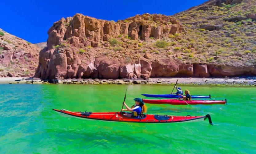 Kayak en Isla Espíritu Santo, Baja California Sur