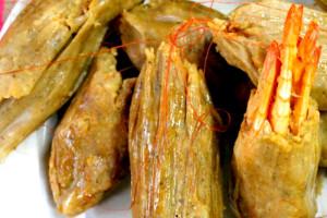 Receta Tamales de Camarones