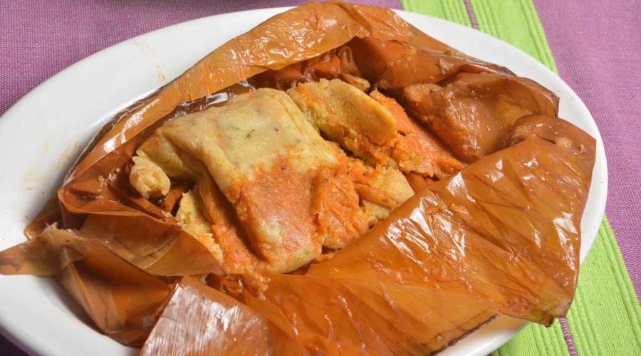 Receta Tamales de Amarillo