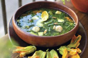 Receta Sopa de Guías con Chochoyotes