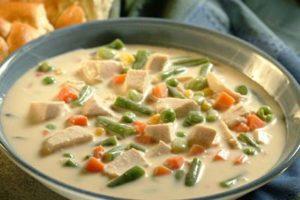 Receta Crema de Pollo y Vegetales