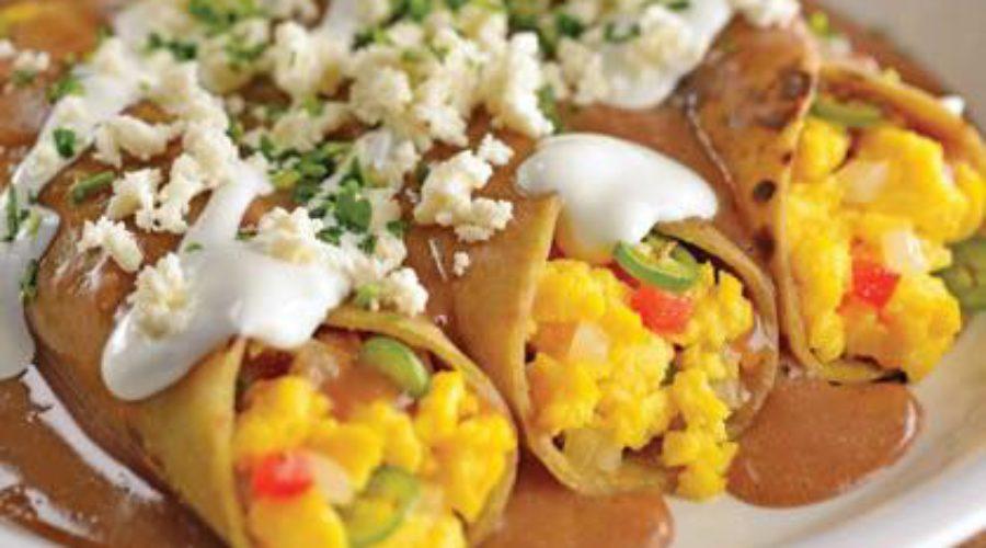 Receta Enfrijoladas con Huevo a la Mexicana