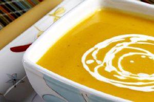 Receta Sopa de Calabaza y Queso de Cabra