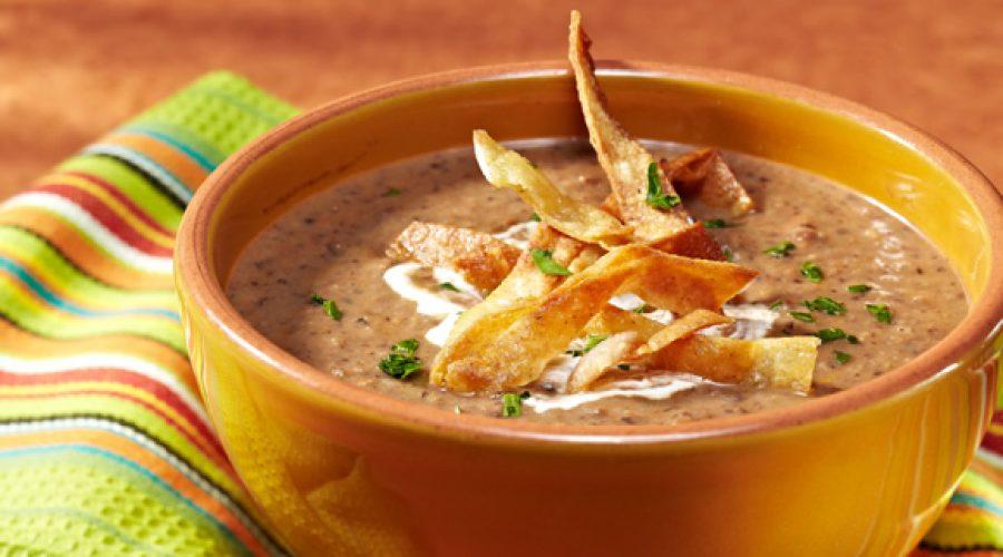 Receta Sopa de Frijoles Negros