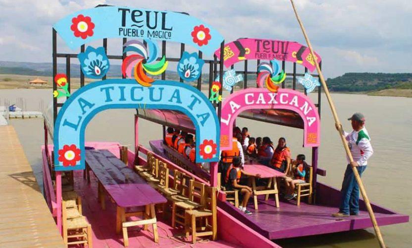 Paseando en Trajinera en Teúl de González Ortega, Zacatecas