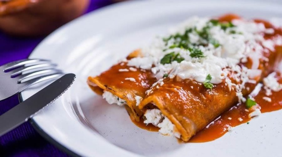 Receta Enchiladas de Requesón