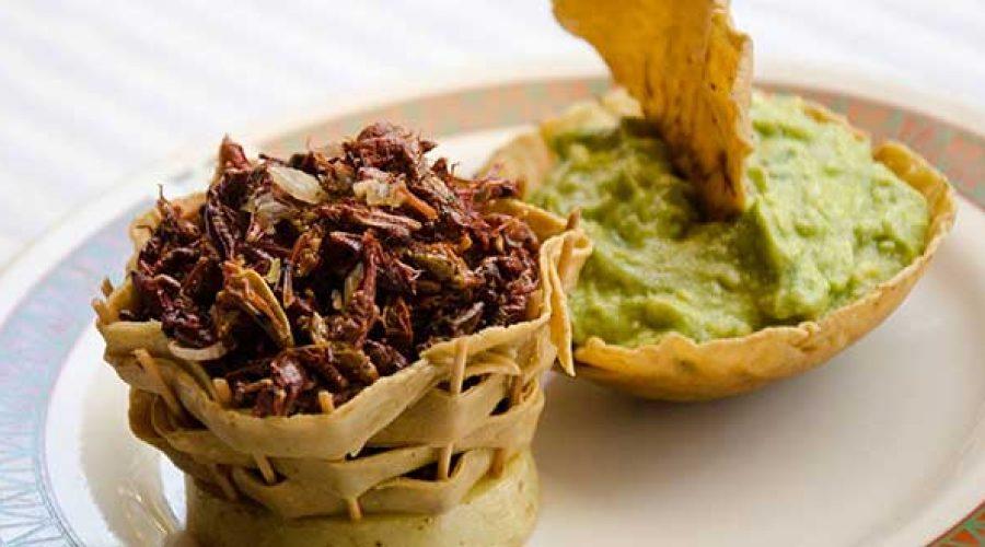 Receta Guacamole con Chapulines