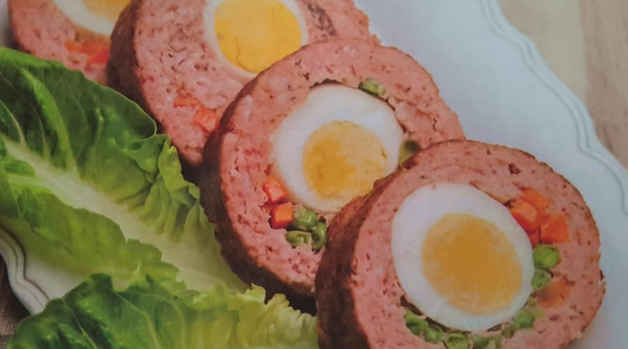 Receta Rollo de Carne con Huevo
