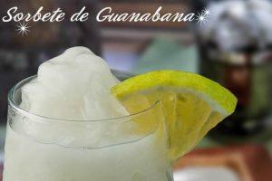 Receta Sorbete de Guanábana