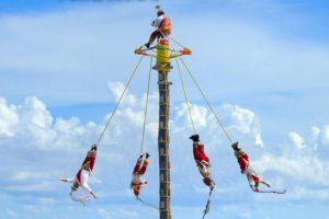 Voladores de Papantla en Xcaret