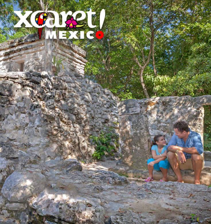 Zonas Arqueológicas en Xcaret