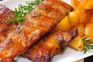 Receta Carne de Puerco con Papas y Naranja