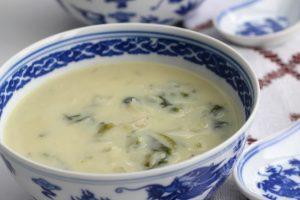 Receta Sopa de Espinacas con Leche