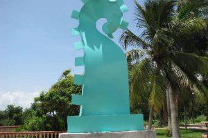 Corredor Escultórico del Boulevard Bahía en Chetumal