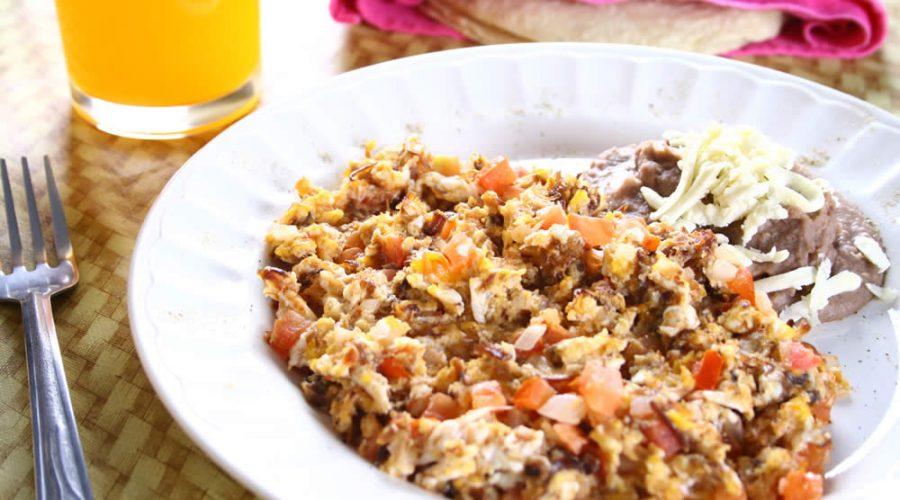 Receta Machaca con Huevo