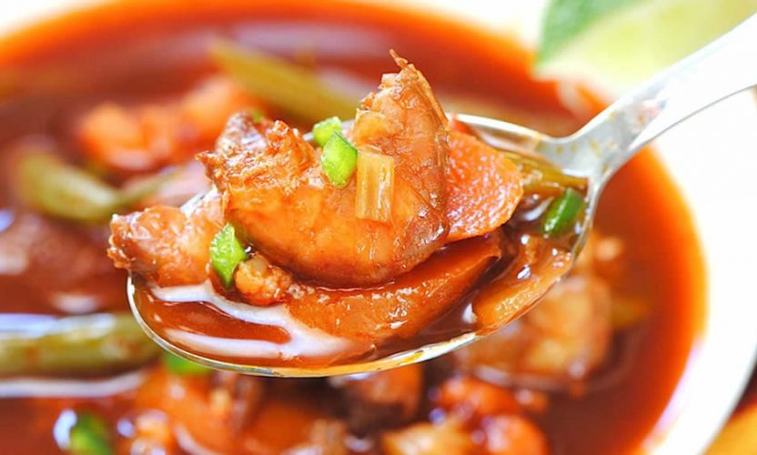 Receta Sopa de Camarón