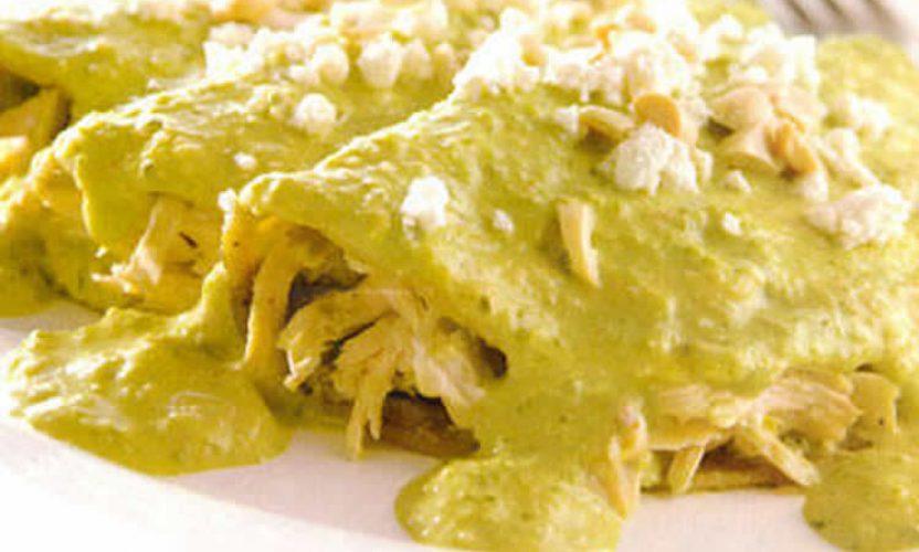 Receta Enchiladas Encacahuatadas