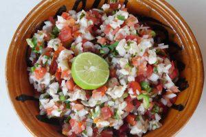 Receta Ceviche de Mojarra estilo Chiapas