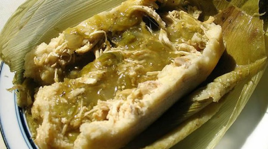 Receta Tamal de Pollo en Salsa Verde