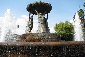 Fuente de Las Tarascas en Morelia