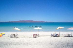 Playa El Tecolote en Baja California Sur