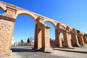 Acueducto El Cubo y Antigua Plaza de Toros San Pedro en Zacatecas